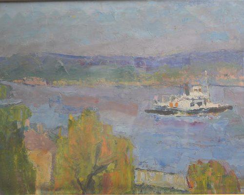 Tablou Rodica Pandele - Vapor pe râu (56 x 74)