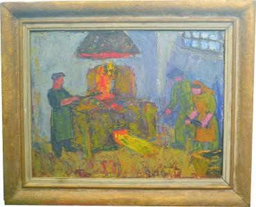 Tablou Rodica Pandele - La cuptorul de creuzet