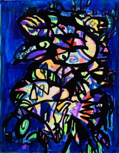 Pandele Rodica-Mihaela, Spaţii celeste VI, acrilic/h, 32 x 23 cm, GR 2985