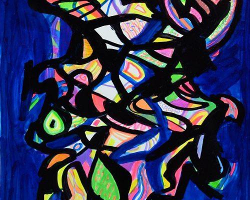 Pandele Rodica-Mihaela, Câmp energetic, acrilic/h, 24 x 33 cm, GR 2986