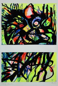 Pandele Rodica-Mihaela, Câmp energetic I, acrilic/h, 34,5 x 22,5 cm, GR 2987