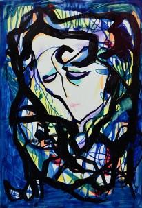 Pandele Rodica-Mihaela, Lumi paralele VI, acrilic/h, 27,5 x 43 cm, GR 2988