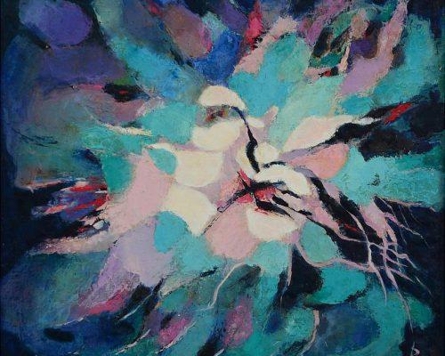 Pandele Rodica-Mihaela, Spaţii celeste III, u/p, 60 x 65 cm, PR 2187