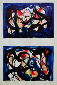 Pandele Rodica-Mihaela, Câmp energetic, acrilic/h, 36,5 x 22,9 cm, GR 2991