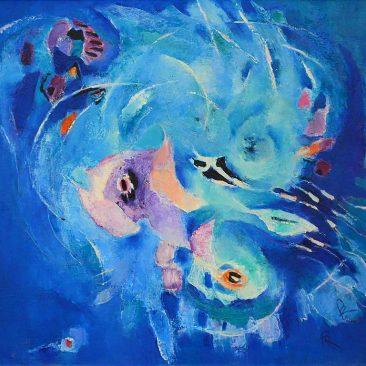 Pandele Rodica-Mihaela, Spaţii celeste X, u/p, 55 x 70 cm, PR 2189