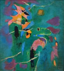 Pandele Rodica-Mihaela, Flori de apă, u/p, 55 x 60 cm, PR 2190