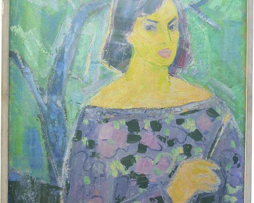 Tablou Rodica Pandele - Autoportret   - ulei pe pânză (79 x 103)