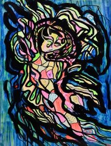 Pandele Rodica-Mihaela, Vântoasele, acrilic/h, 31,5 x 45,5 cm, GR 2993