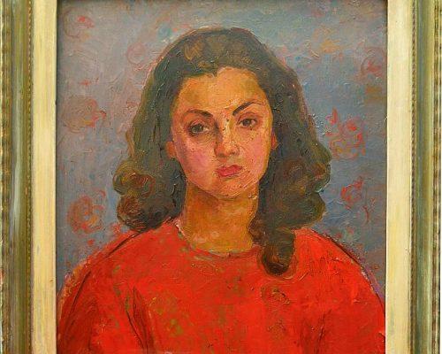 Tablou Rodica Pandele - Autoportret  - ulei pe pfl (54 x 59)
