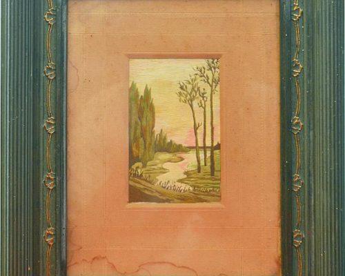 Tablou Rodica Pandele - La râu  - (30x 37) (8x 13- tablou)