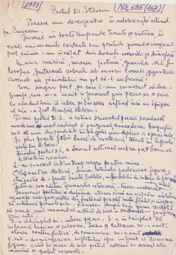 Confesiunea pictoriței Rodica Pandele despre fostul ei soț, poetul Dimitrie Stelaru
